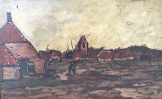 Online veilinghuis Catawiki: Francois Albert Mooy (1884-1968) - Boeren landschap