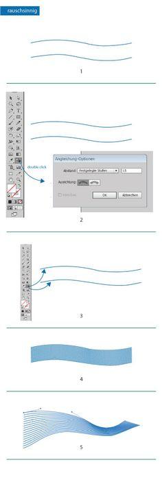 Futuristische Linie in Illustrator erstellen #Design #Tutorial #Zeichnen #AdobeIllustrator #Adobe #Illustrator #Typografie www.rauschsinnig.de