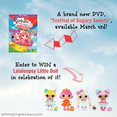 """A brand new Lalaloopsy DVD is coming out March 3rd: """"Festival of Sugary Sweets""""!"""