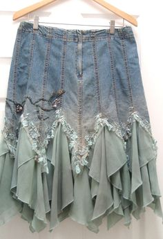 altered couture | ALTERED COUTURE WOMENS DENIM SKIRT - VINTAGE INSPIRED - ... | Up my a ...