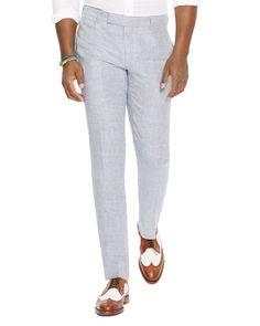 Polo Ralph Lauren Houndstooth Linen Slim Fit Pants