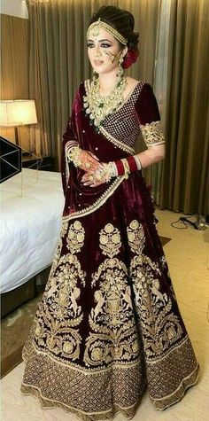 Buy Super Exclusive Lehengas Collection With All type Of Occasion and Pattern Types Like Bridal Lehengas,Wedding lehengas,Bollywood lehnega,Designer Lehenga And More . Indian Bridal Outfits, Indian Bridal Hairstyles, Indian Bridal Fashion, Indian Bridal Wear, Indian Dresses, Bridal Dresses, Lehenga Hairstyles, Eid Dresses, Lehenga Designs