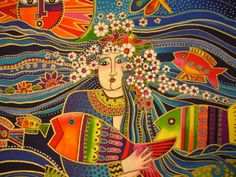 Laurel Burch Ocean Songs Mermaid