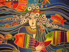 Laurel Burch Ocean Songs Mermaid