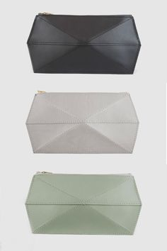 Unique 3D leather cases. Perfect size for your sunglasses, business cards, cash, bobby pins or other daily necessities.