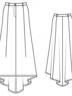 Юбка-макси с летящим шлейфом Technical Drawing, Pattern Drafting, Fabric Manipulation, Couture, Fashion Flats, Wool, Sewing, Skirts, Fashion Design