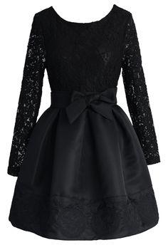 The Lace Valse Black Dress - Floral - Dress - Retro, Indie and Unique Fashion