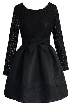 The Lace Valse Black Dress - Floral - Dress - Retro, Indie and Unique Fashion