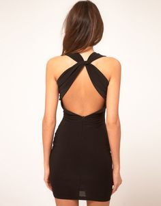 Shop TFNC Dress Draped Cross Back Jersey at ASOS. Nice Dresses, Short Dresses, Tfnc, Cool Summer Outfits, Tumblr Outfits, Fashion Night, Fashion Details, Dress To Impress, Dress Skirt