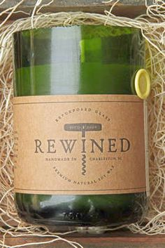 Items similar to Rewined - Signature Riesling - Repurposed Wine Bottle - 11 oz Soy Wax Candle on Etsy Soy Wax Candles, Scented Candles, Rewined Candles, Chardonnay Wine, Wine Bottle Candles, Wine Bottles, Candle Shop, Recycled Bottles, Just In Case