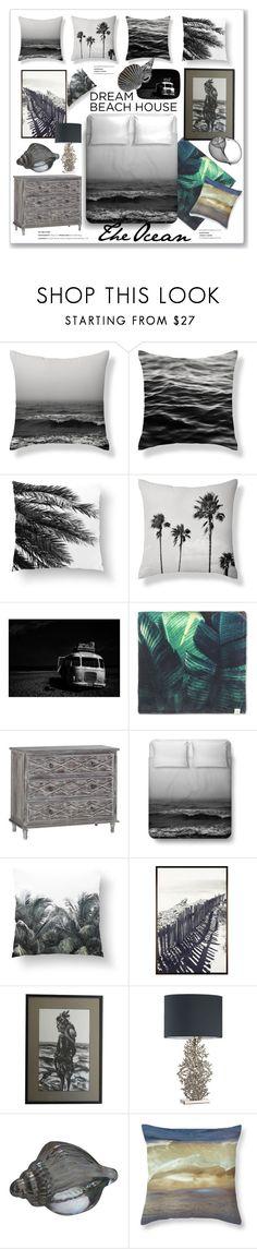 """Monochromatic Dream Beach House"" by mandiek-2 ❤ liked on Polyvore featuring interior, interiors, interior design, home, home decor, interior decorating, Molo, Pottery Barn, Heathfield & Co. and monochrome"