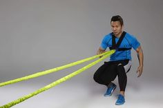44SPORT Speed And Agility Training Equipment - Strength Bands And Bungie Cords - Running Resistance Harness Belts - Bungee Cord - Suitable For Baseball, Basketball, Football, Yoga, Soccer Training