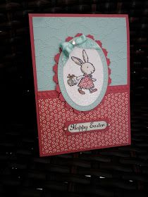 """Wishing all my blogging friends a Blessed, Happy & Safe Easter!  Stamping Supplies:  """"Everybunny"""" stamp set, Ovals Collection Framelits D..."""