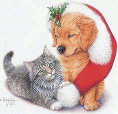 kitties and puppies and christmas.  oh, yes.  thank you, j