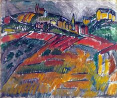 Landscape with red and yellow, 1908-Raoul Dufy - by style - Fauvism