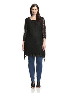 www.myhabit.com  Straight fit lace stripe dress with sheer sleeves, asymmetrical hem and rosette-embellished neckline
