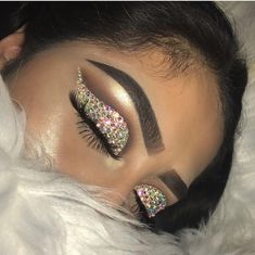 Image about diamonds in makeup by ~luxurious Taste~ Makeup Is Life, Crazy Makeup, Cute Makeup, Glam Makeup, Gorgeous Makeup, Pretty Makeup, Makeup Goals, Makeup Inspo, Makeup Art