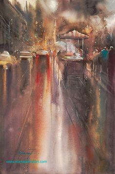 """Istanbul, Turkey XIII"" watercolor by Keiko Tanabe"