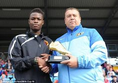 Raw talent: Manchester United have taken Watford youngster Ogo Obi (left) on trial at the ...