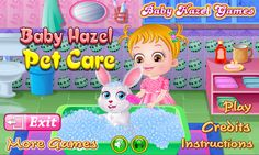 Baby Hazel takes care of her new pet rabbit by bathing, feeding and playing with him. Can you help cute angel in performing all these activities? https://play.google.com/store/apps/details?id=air.org.axisentertainment.BabyHazelPetCare&hl=en