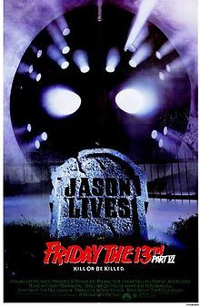 """The sixth Friday: Jason is resurrected when the boy who killed him in the previous movie stabs him with a rod. Lightning comes down and animates the body. Jennifer Cooke (""""V""""), Tony Goldwyn (""""Ghost""""), and Ron Palillo (""""Kotter"""") are among the terrorized teens."""