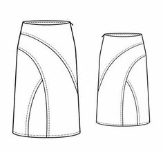 Nice dissection of a basic skirt to add interest-http://www.sewingavenue.com/