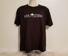 NYU New York University Stern Adult Large Black TShirt #Hanes