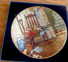 """Mint 1979 Norman Rockwell """"Spring Flowers"""" Collectors Plate 10"""" Easter Gift 