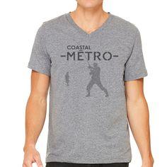 """Coastal Metro "" Short Sleeve V-Neck"