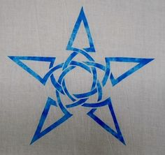 On this page of Celtic applique patterns, we give you the moon and stars.