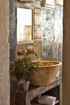 Beautiful Rustic Bath.