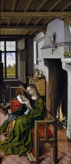 Campin, Robert. Santa Bárbara. 1438. Museo del Prado, Madrid