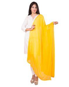 Yellow Color  Soft Chiffon Dupatta