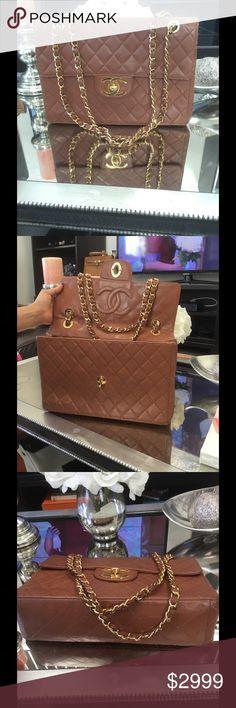 Selling this 100% authentic Chanel Maxi flap XL on Poshmark! My username is: theluxurylocker. #shopmycloset #poshmark #fashion #shopping #style #forsale #CHANEL #Handbags