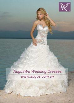 AWB0319 2012 Glamorous Sheer Corset Sweetheart No Train A Line Organza Wedding Dress on AliExpress.com. 10% off $187.58
