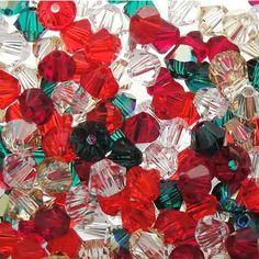 Swarovski Crystal, 4mm Bicone, Happy Garden, 50pc | Auntie's Beads