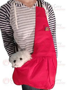 Red Pets Sling Carrier for Small Dog- Pet Cloth Totes and Carriers By Cozy Courier -Size Medium Cozy Courier http://www.amazon.com/dp/B00PCO8OMK/ref=cm_sw_r_pi_dp_N1.wwb06N4MPA