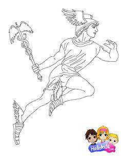 Dionysus Coloring Page Greek God Mythology Unit Study By