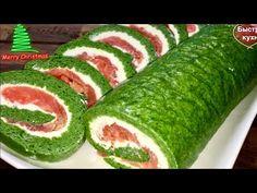 Изумительно вкусно! ИЗУМРУДНЫЙ РУЛЕТ с красной рыбой и шпинатом. - YouTube Cooking Recipes, Healthy Recipes, Sushi, Watermelon, Buffet, Bakery, Food And Drink, Appetizers, Fruit