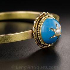 Victorian Enamel and Pearl Bracelet - Victorian Jewelry - Vintage Jewelry