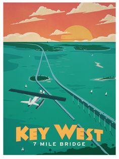 Image of Vintage Key West Poster