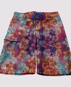 Purple Crystals Mens Fashion Summer Boardshorts Boardshort