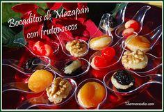 Bocaditos de mazapán con frutos secos