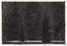 A Work on Paper by Randall Stoltzfus. Carbon digital print on prepared paper, 5 inches by 7 inches.