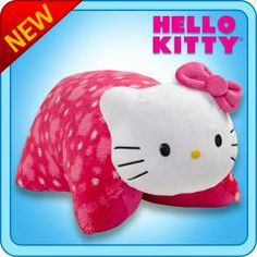 Pillow Pets® Folding Plush :: Hello Kitty - My Pillow Pets® | The Official Home of Pillow Pets Who doesn't love Hello Kitty?