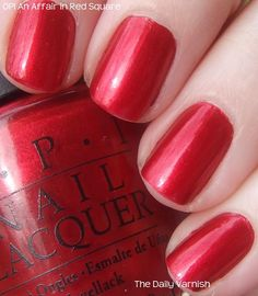 OPI An Affair in Red Square is a great holiday color and with Verity Red Glitter on top, it's dazzling!