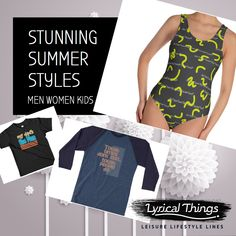 We creates unique designs for active lifestyles. The designs are for yoga, fitness and sports. Branding Services, Stunning Summer, Active Wear, Lyrics, Sporty, Meet, One Piece, Mens Fashion, Free Shipping