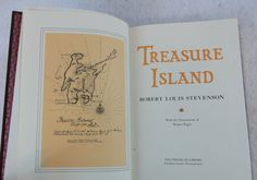Vintage (c. 1984) Franklin Library Treasure Island. Faux-leather master binding, gilt pages, acid-free paper.100 Greatest series