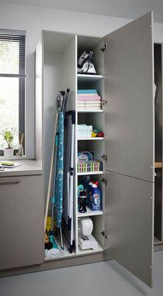 Larder Storage, Kitchen Storage Units, Cupboard Storage, Laundry Cupboard, Studio Kitchen, Kitchen Decor, Kitchen Design, City Apartment, Home Fashion