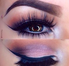 I never thought about putting peachy colours in my crease with a purple-ish pink on the lid... looks amazing
